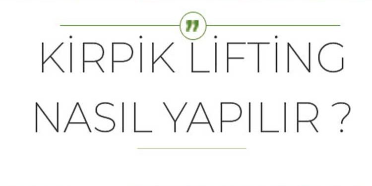 Kirpik Lifting Faydaları